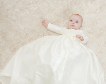 Christening Gown 'Lara' by Adore Baby.  Baptism Gown, Christening Dress, Christening Outfit