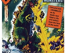 Godzilla Poster - Amazing Vintage Print - Style 1 - Rare Hot New 24x36