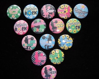 Cheer Buttons Set of 15