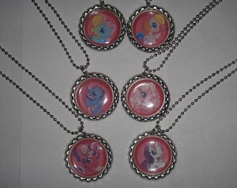 My Little Pony Necklaces Set of 6