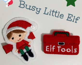 Elf hair clip, elf tools felt hair clip, hair clip, christmas clip, festive hair accessories, UK seller