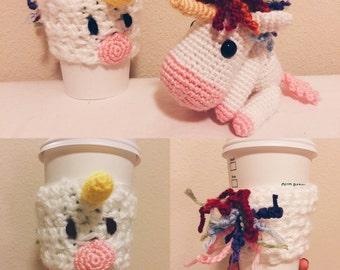 Unicorn - Cup Cozy