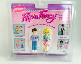 Vintage 1991 Playskool Flip'n Fancy Dolls