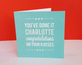 You've Done It card Congratulations Exams A levels GCSE's Personalised
