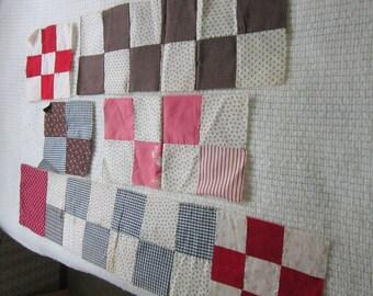 11 Quilt Blocks circa 1910