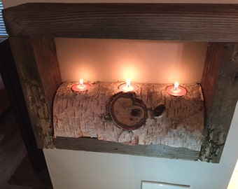 Reclaimed Wood Candle Frame
