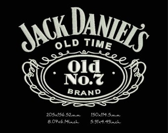 Jack_Daniels_old_time machine embroidery design, instant download