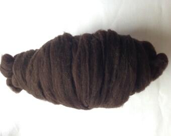 Cormo Roving - Natural Black - 4 oz