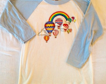 Vintage Rainbow & Hot Air Balloons Tee