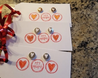 Set of 3 embellished tags, for packages, gifts!!