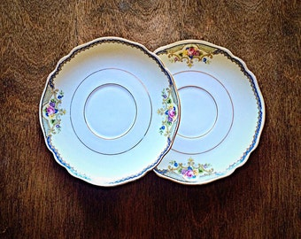 Paul Muller Selb set of 2 Saucers, made in Bavaria, Vintage Paul Muller Selb, Bavarian China, Vintage China, Vintage Bavarian China