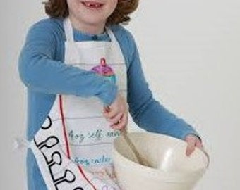 Personalized Kid's Apron w/Pkt