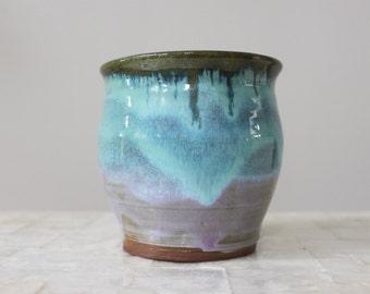 Small earthenware indoor planter