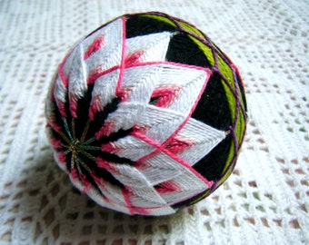 Japanese Temari Ball -- Classic Chrysanthemum