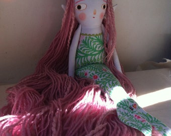 Little elfmaid folk art doll