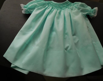 Hand Smocked Baby Dress 12 Months