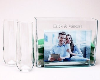 Personalized Photo Vase Sand Ceremony Set