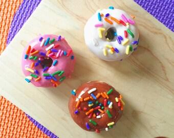 Set of 3 Mini Donut Soaps - Donut Soap - Doughnut Soaps - Food Soap - Dessert Soap - Novelty Soap - Handmade Soap
