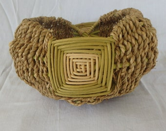 Basket, Hand Woven Reed and Sea Grass