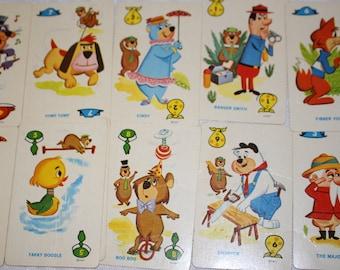 Vintage Yogi Bear Card Game - Set of 10 cards - cute bear cards - cute cartoon cards