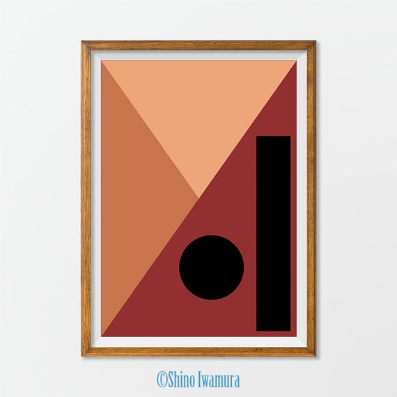 Abstract art minimalist print wall art geometric by shinoprint for Minimalist wall decor