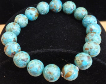Tourquoise Bead Stretch Bracelet