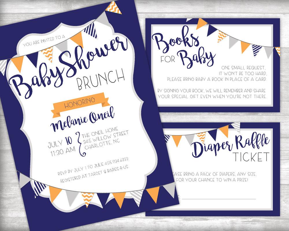 baby shower brunch invitation printable by bydandeliondesign