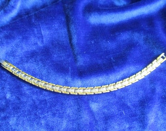 Gold and Silver Tone Stainless Steel LINK BRACELET, Costume Jewellery, Costume Jewelry