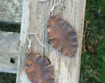Autumn Leaves - Copper Earrings