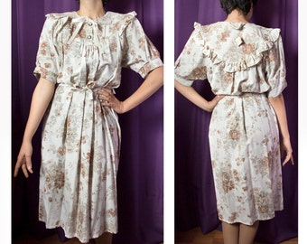 Vintage clothing-Women's vintage dress 1980s-New with tag-cocktail dress-flower dress-party dress-vintage flowers-Shabby chic