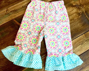 Double Ruffle Pants | Medallion | size 6m to 10y