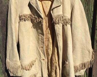 Taupe Deerskin Coat