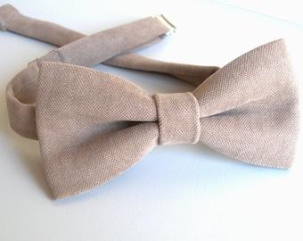 Beige Bowtie / Men Bowties / Bows / Wedding Bow Ties /  Adjustable Bowtie / Beige Bow Tie / Wedding Gift / Groomsmen Bow Tie