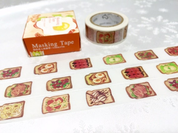 Toast Gourmet Washi Tape 10m Yummy Food Toast Bread Washi