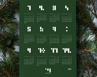 Point comma stroke - calendar 2017 block.forest
