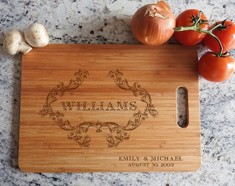 kikb522 Personalized Cutting Board Wood wooden wedding gift anniversary date name family