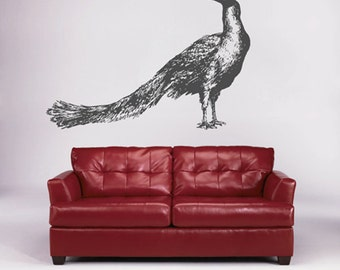 Kik1647 Wall Decal Sticker Indian Peacock Bird Living Room Bedroom Part 96