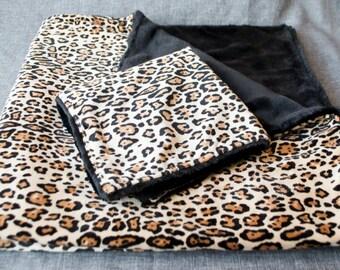 Jaguar Minky Baby Blanket and Lovey