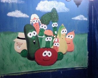 Canvas Backdrop - Veggie Tales