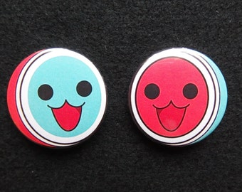 Taiko no Tatsujin - Taiko Master badges/buttons