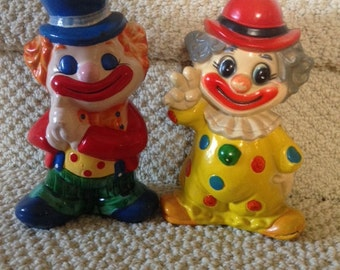 vintage clown coin banks