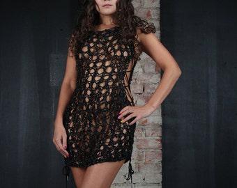 "Leather dress ""Diana"""