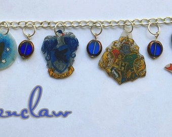 Hand Made Ravenclaw Charm Bracelet