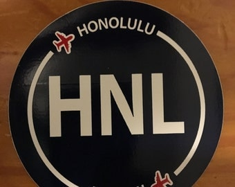 Honolulu airport stickers