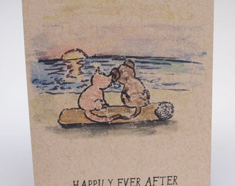 Greeting Card- Happily Ever After, sunset