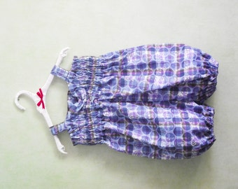 Overalls size 3/4 years romper with smocking