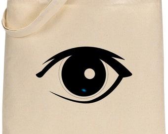 Eye Printed Tote Bag