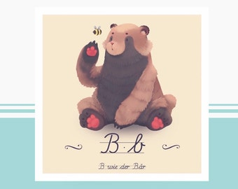 Animal ABC - B bear