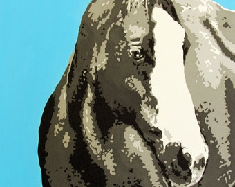"16x24 inch horse print - ""Sammy"""