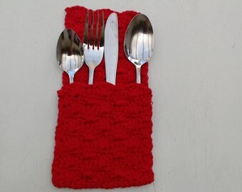 Crocheted cutlery bag (set of 4)